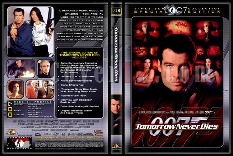 007 James Bond Collection - Custom Dvd Cover Set - English-007-18-tomorrow-never-diesjpg