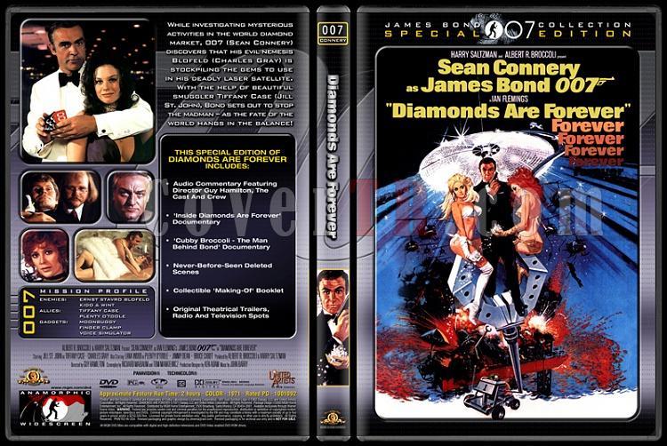 007 James Bond Collection - Custom Dvd Cover Set - English-007-007-diamonds-foreverjpg