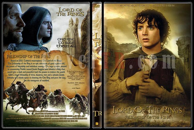 The Lord of the Rings (Yüzüklerin Efendisi) - Custom Dvd Cover Set - English [2001-2003]-1jpg