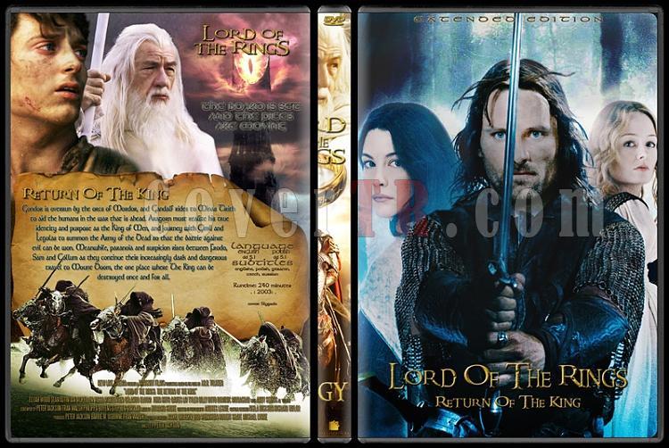 The Lord of the Rings (Yüzüklerin Efendisi) - Custom Dvd Cover Set - English [2001-2003]-3jpg