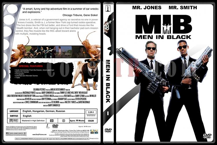 Men in Black (Siyah Giyen Adamlar) - Custom Dvd Cover Set - English [1997-2002-2012]-100jpg