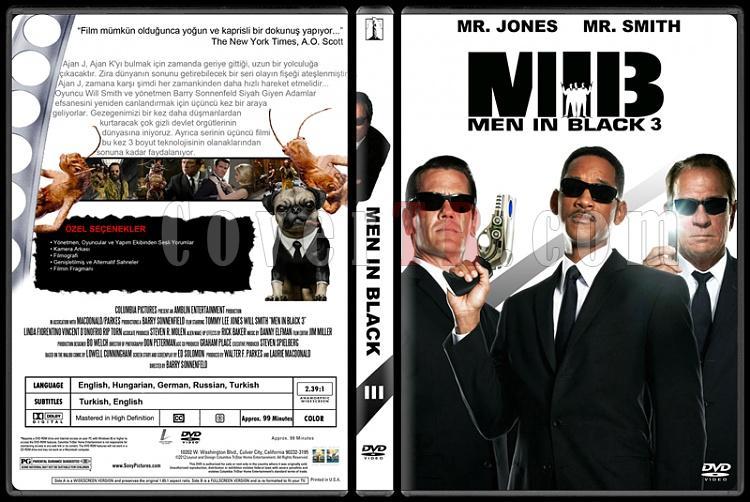 Men in Black (Siyah Giyen Adamlar) - Custom Dvd Cover Set - Türkçe [1997-2002-2012]-300jpg