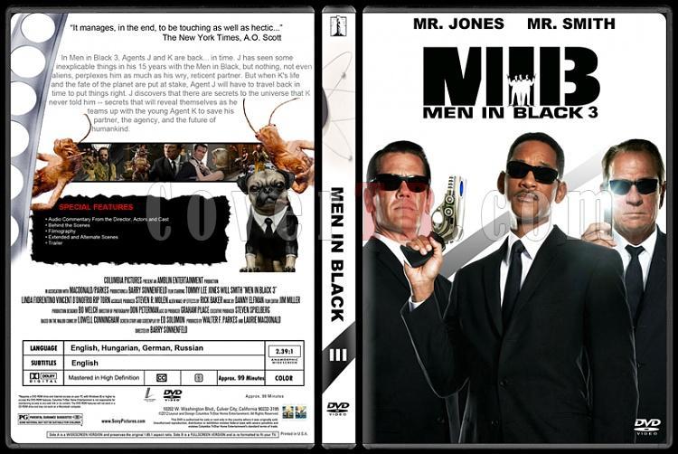 Men in Black (Siyah Giyen Adamlar) - Custom Dvd Cover Set - English [1997-2002-2012]-300jpg