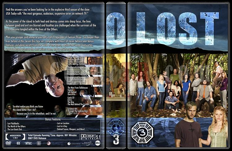 Lost (Seasons 1-6) - Custom Dvd Cover Set - English [2004-2010]-lost-season-3jpg