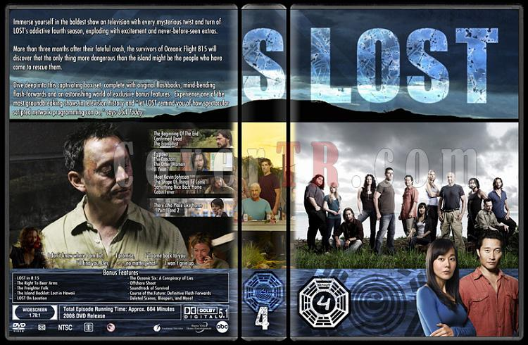 Lost (Seasons 1-6) - Custom Dvd Cover Set - English [2004-2010]-lost-season-4jpg