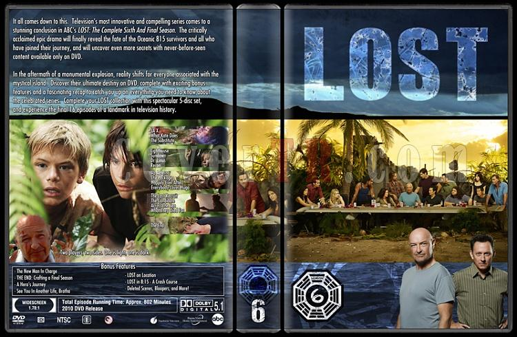 Lost (Seasons 1-6) - Custom Dvd Cover Set - English [2004-2010]-lost-season-6jpg