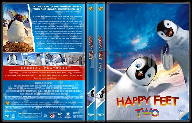 Happy Feet (Neşeli Ayaklar) - Custom Dvd Cover Set - English [2006-2011]-happy-dvdsjpg