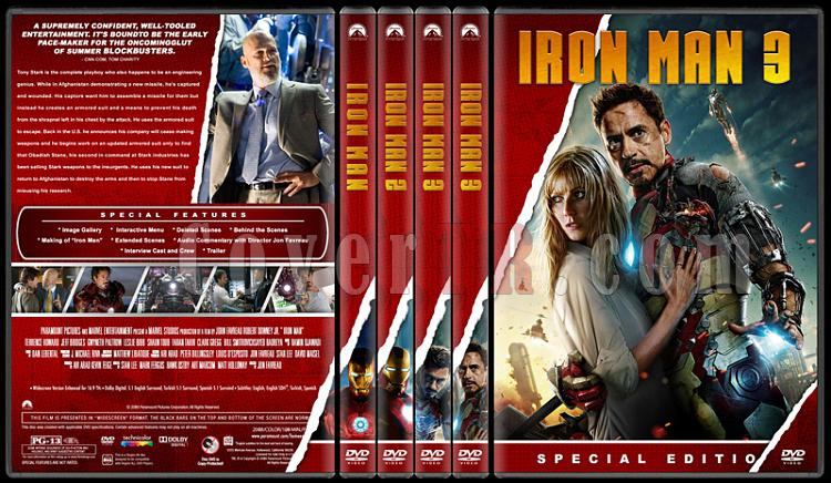 Iron Man Collection (Demir Adam Koleksiyonu) - Custom Dvd Cover Set - English [2008-2010-2013]-alljpg