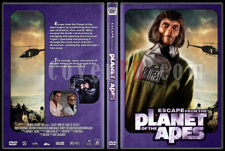 Planet of the Apes Collection - Custom Dvd Cover Set - English [1968-1970-1971-1972-1973]-3jpg