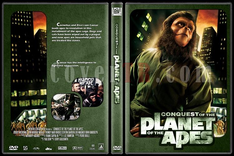 Planet of the Apes Collection - Custom Dvd Cover Set - English [1968-1970-1971-1972-1973]-4jpg