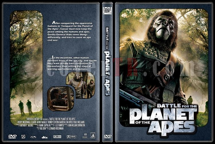 Planet of the Apes Collection - Custom Dvd Cover Set - English [1968-1970-1971-1972-1973]-5jpg
