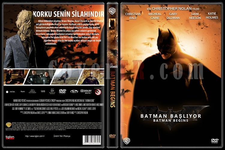 Batman: The Dark Knight Collection (Batman: Kara Şövalye Koleksiyonu) - Custom Dvd Cover Set - Türkçe [2005-2008-2012]-1jpg