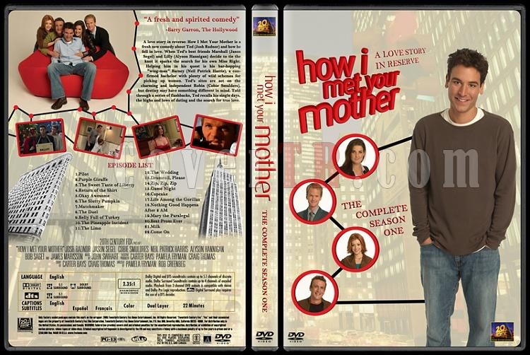How I Met Your Mother (Seasons 1-7) - Custom Dvd Cover Set - English [2005-?]-how-i-met-your-mother-custom-dvd-cover-set-english-season-i-prejpg