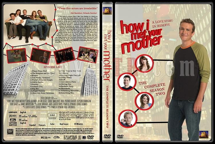 How I Met Your Mother (Seasons 1-7) - Custom Dvd Cover Set - English [2005-?]-how-i-met-your-mother-custom-dvd-cover-set-english-season-ii-prejpg