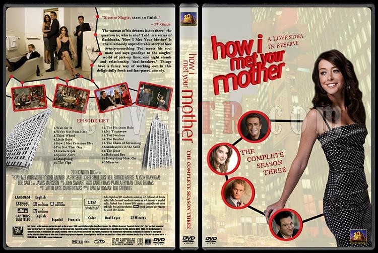 How I Met Your Mother (Seasons 1-7) - Custom Dvd Cover Set - English [2005-?]-how-i-met-your-mother-custom-dvd-cover-set-english-season-iii-prejpg