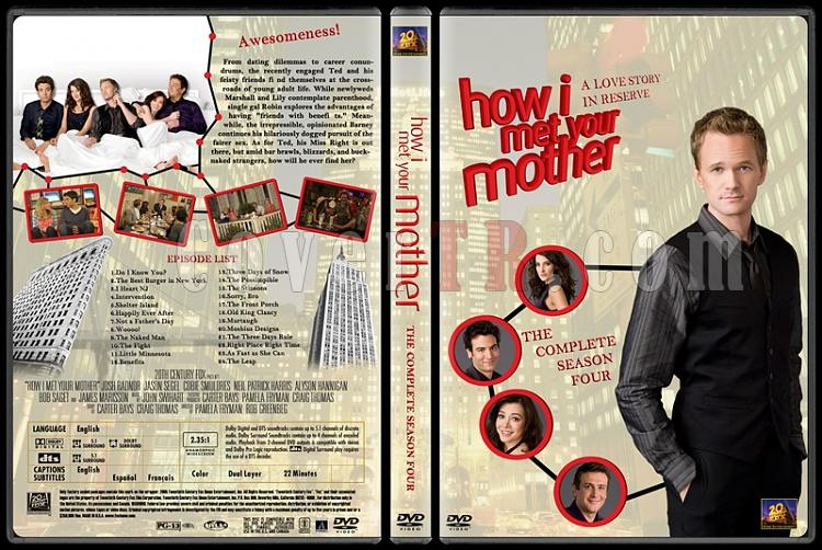 How I Met Your Mother (Seasons 1-7) - Custom Dvd Cover Set - English [2005-?]-how-i-met-your-mother-custom-dvd-cover-set-english-season-iv-prejpg