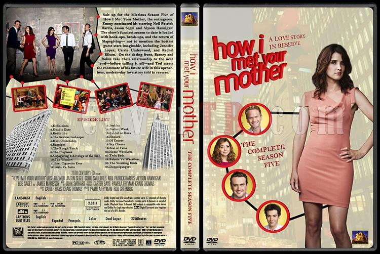 How I Met Your Mother (Seasons 1-7) - Custom Dvd Cover Set - English [2005-?]-how-i-met-your-mother-custom-dvd-cover-set-english-season-v-prejpg