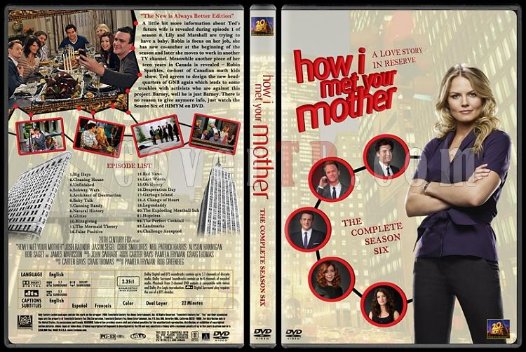 How I Met Your Mother (Seasons 1-7) - Custom Dvd Cover Set - English [2005-?]-how-i-met-your-mother-custom-dvd-cover-set-english-season-vi-prejpg