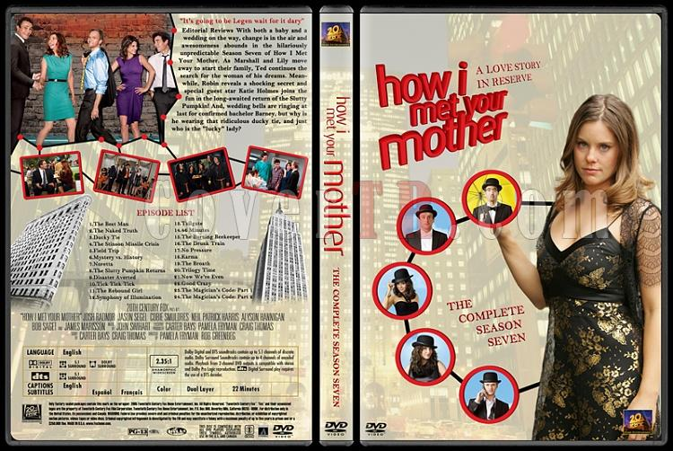 How I Met Your Mother (Seasons 1-7) - Custom Dvd Cover Set - English [2005-?]-how-i-met-your-mother-custom-dvd-cover-set-english-season-vii-prejpg