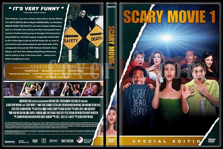 Scary Movie (Korkunç Bir Film) - Custom Dvd Cover Set - English [2000-2013]-1jpg
