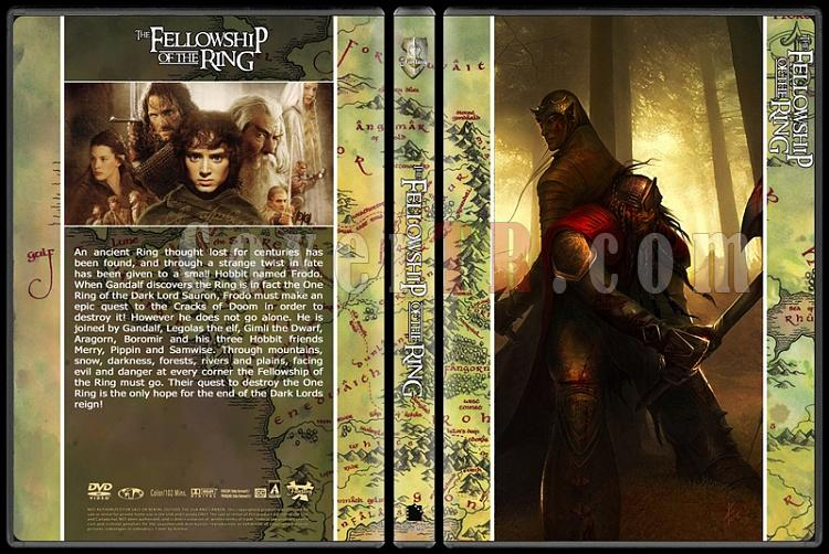 The Lord of the Rings (Yüzüklerin Efendisi) - Custom Dvd Cover Set - English [2001-2002-2003]-1jpg