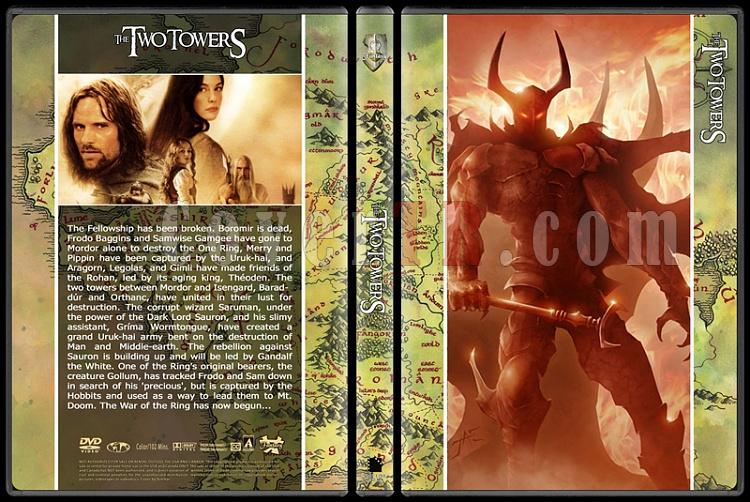 The Lord of the Rings (Yüzüklerin Efendisi) - Custom Dvd Cover Set - English [2001-2002-2003]-2jpg