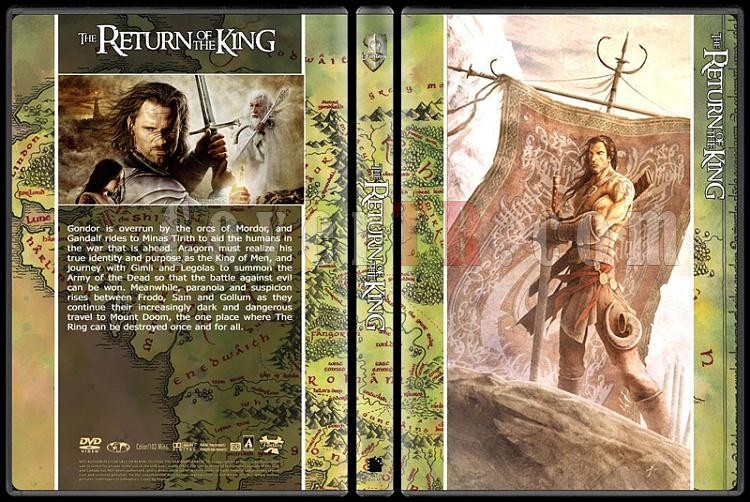 The Lord of the Rings (Yüzüklerin Efendisi) - Custom Dvd Cover Set - English [2001-2002-2003]-3jpg