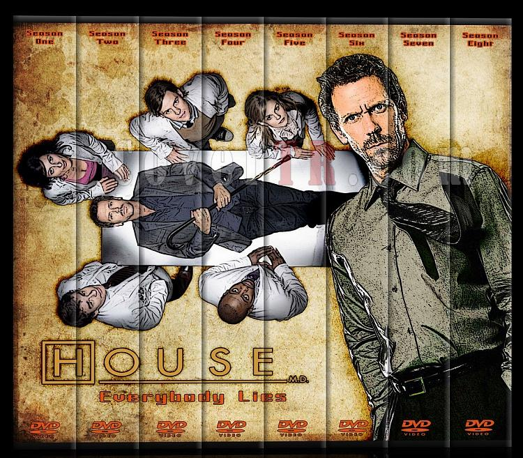 House M.D. (All Seasons) - Custom Dvd Cover Set - Türkçe [2004-2012]-set-2jpg