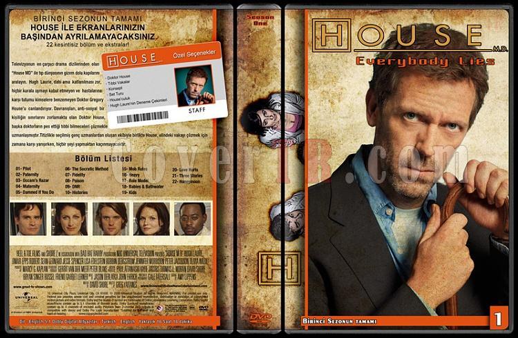 House M.D. (All Seasons) - Custom Dvd Cover Set - Türkçe [2004-2012]-1jpg
