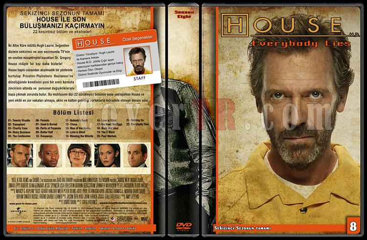 House M.D. (All Seasons) - Custom Dvd Cover Set - Türkçe [2004-2012]-8jpg