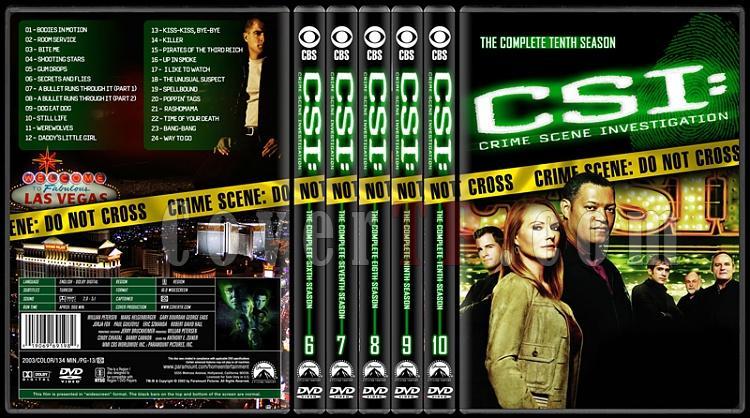CSI: Crime Scene Investigation (Seasons 1-13) - Custom Dvd Cover Set - English [2000-?]-6-10jpg