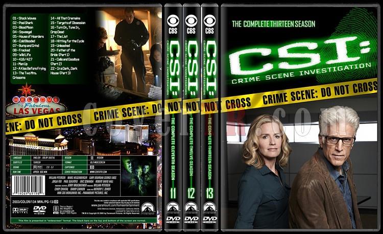 CSI: Crime Scene Investigation (Seasons 1-13) - Custom Dvd Cover Set - English [2000-?]-11-13jpg