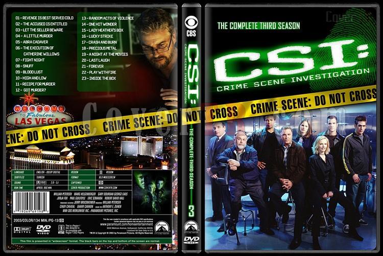 CSI: Crime Scene Investigation (Seasons 1-13) - Custom Dvd Cover Set - English [2000-?]-3jpg