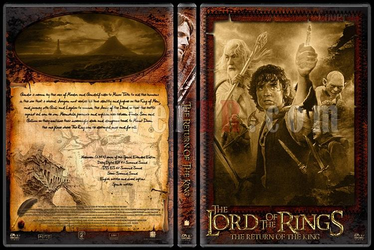 The Lord of the Rings (Yüzüklerin Efendisi) - Custom Dvd Cover Set - English-3jpg