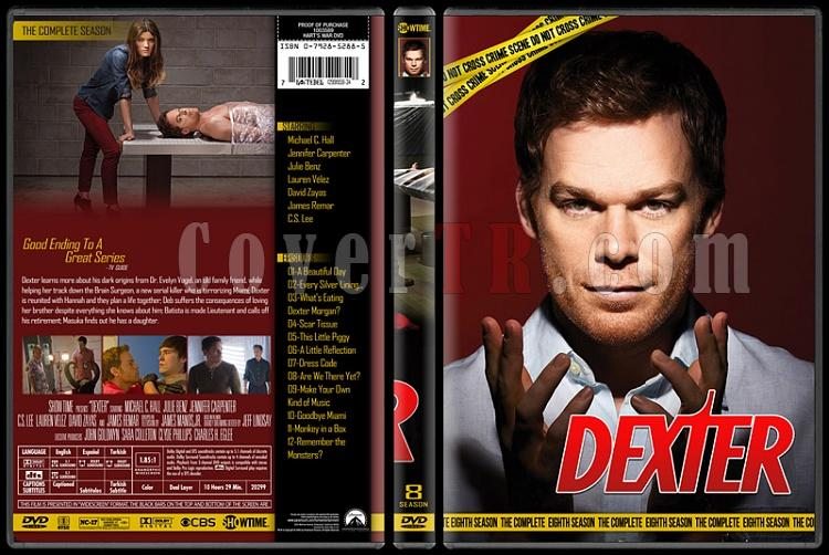 Dexter (Seasons 1-8) - Custom Dvd Cover Set - English [2006 - 2013]-standardjpg