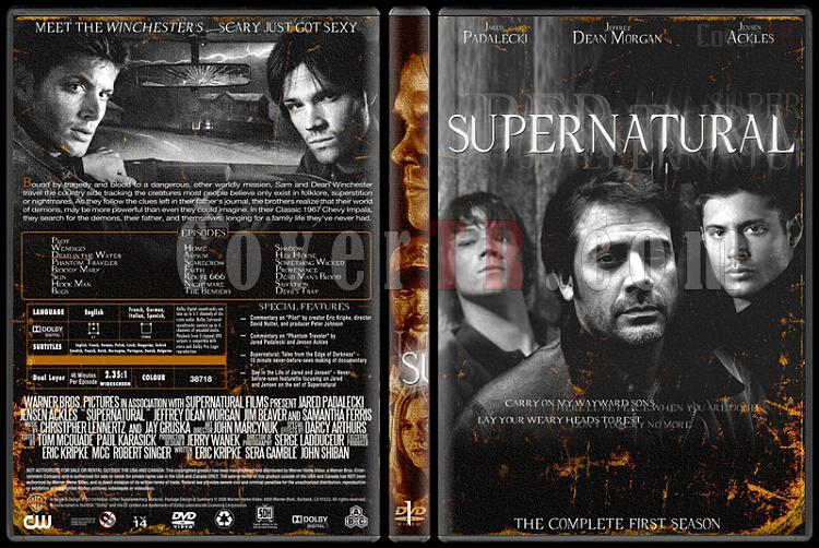 Supernatural (Seasons 1-8) - Custom Dvd Cover Set - English [2005-?]-1jpg
