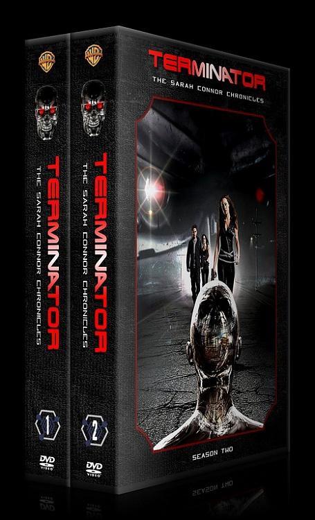 Terminator: The Sarah Connor Chronicles (Seasons 1-2) - Custom Dvd Cover Set - English [2008-2009]-3djpg