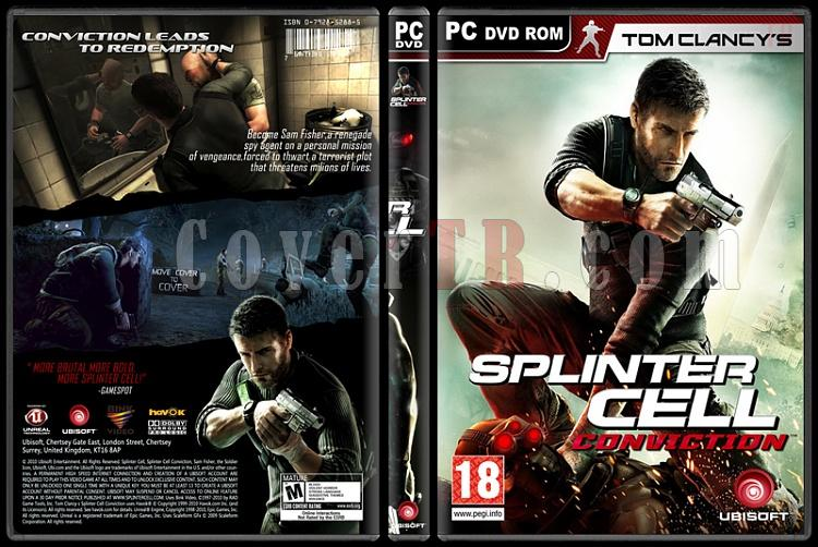 Tom Clancy's Splinter Cell Collection - Custom PC Cover Set - English-1jpg
