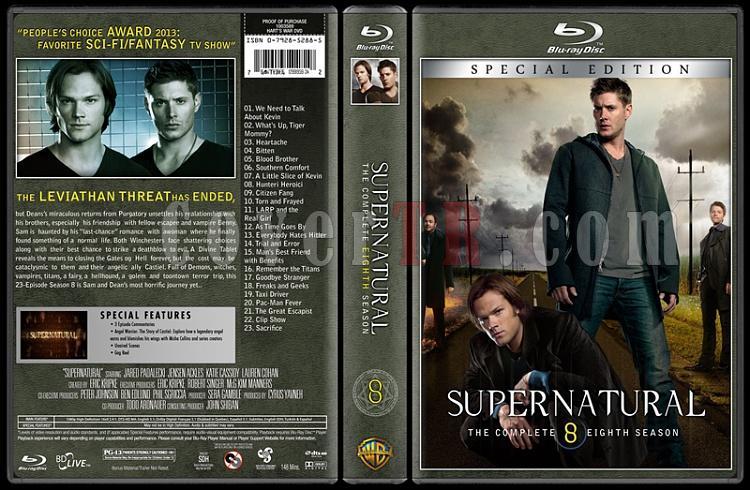 Supernatural (Seasons 1-8) - Custom Bluray Cover Set - English [2005-?]-season-8jpg