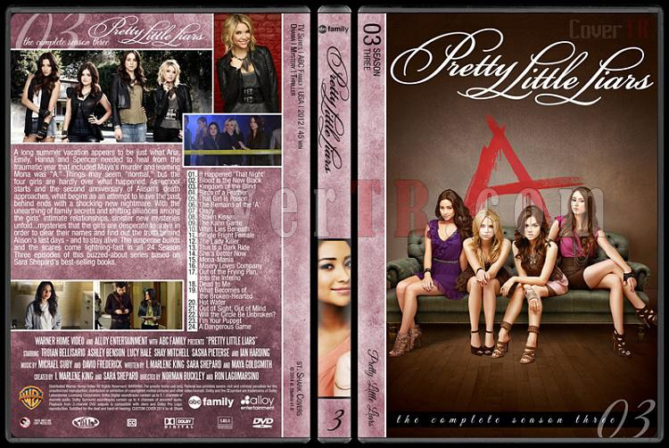 Pretty Little Liars (Seasons 1-5) - Custom Dvd Cover - English [2010- ?]-pretty-little-liars-season-3jpg