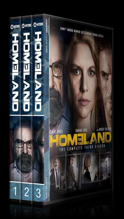 Homeland (Seasons 1-3) - Custom Dvd Cover Set - English [2011-?]-spinjpg