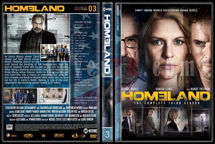 Homeland (Seasons 1-3) - Custom Dvd Cover Set - English [2011-?]-s3jpg