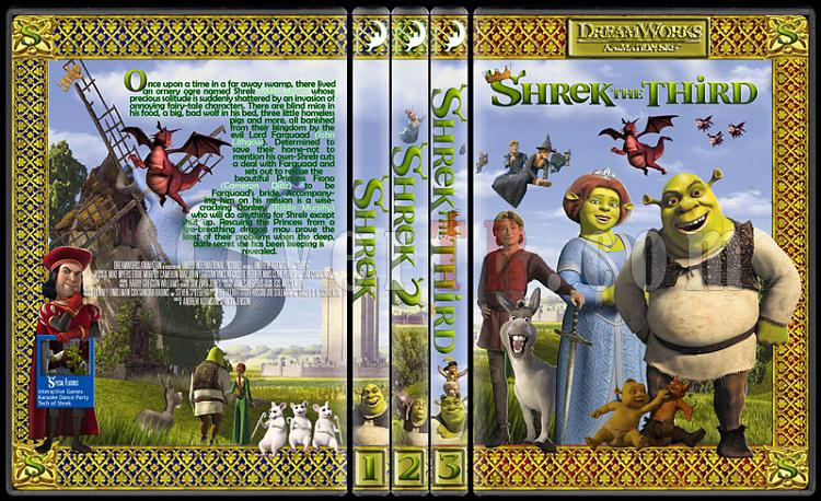 The Shrek Collection (Şrek Koleksiyonu) - Custom Dvd Cover Set - English [2001-2004-2007]-onizleme-1jpg