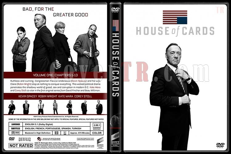 House of Cards (Seasons 1-3) - Custom Dvd Cover Set - English [2013-2015]-house-cards-season-1-ctrjpg
