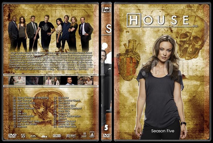 House M.D. Collection - Custom Dvd Cover Set - English [2004–2012]-5jpg