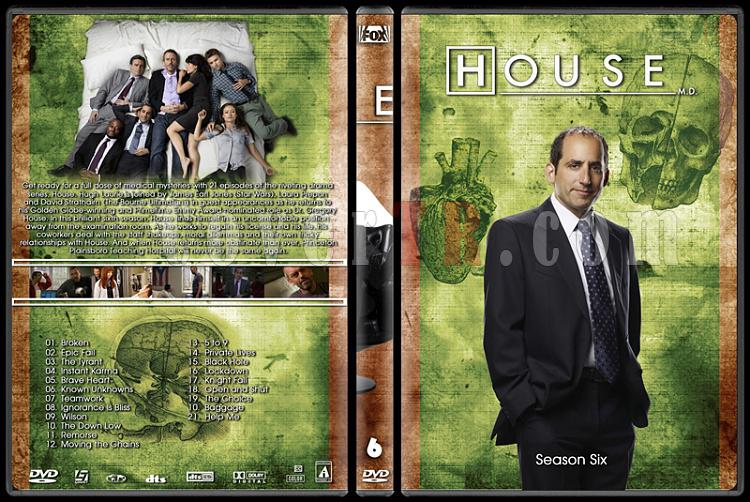House M.D. Collection - Custom Dvd Cover Set - English [2004–2012]-6jpg