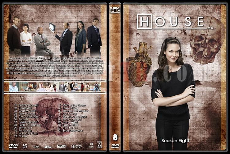 House M.D. Collection - Custom Dvd Cover Set - English [2004–2012]-8jpg