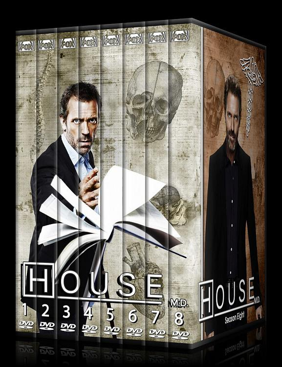 House M.D. Collection - Custom Dvd Cover Set - English [2004–2012]-ssjpg
