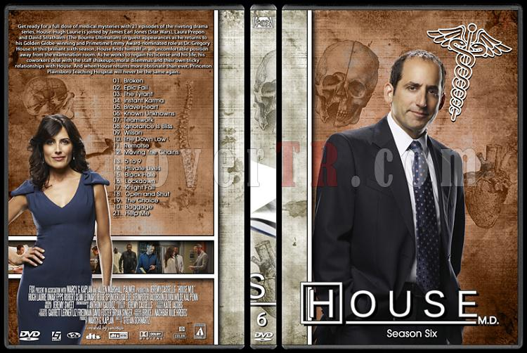 House M.D. Collection - Custom Dvd Cover Set - English [2004–2012]-6jpg