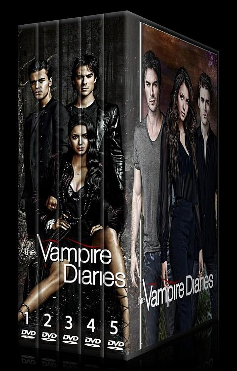 The Vampire Diaries (Seasons 1-5) - Custom Dvd Cover Set - English [2009-?]-0jpg